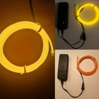 EL-шнур Желтый 2 метра  + Блок питания