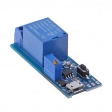 Модуль реле 1 канальное с управлением по Micro USB