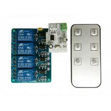 Модуль ИК управления 4 канальным реле с 1 пультом