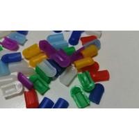Заглушки на гибкий неон 6 на 12 мм (Цвета в ассортименте)