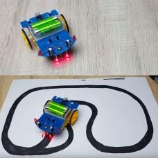 Робот Жук,  Набор для сборки/пайки,  Робот перемещающийся по линии
