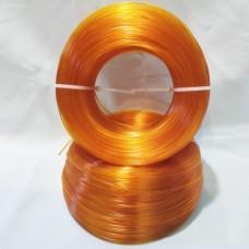 PET-G Оранжевый-Прозрачный. Без катушки.