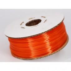 PET- G Оранжевый-Прозрачный. Гофро-катушка.