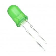 Широкоугольный светодиод зеленый. 5 мм F5