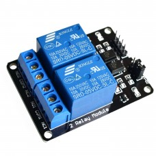Модуль реле 5В с опторазвязкой 2-х канальный