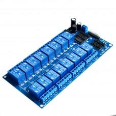 Модуль реле 5В с опторазвязкой 16 канальный