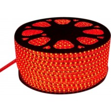 Светодиодная лента 220V. IP67. Цвет: Красный