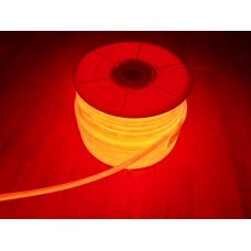 Гибкий неон (круглый) 14 мм. Красный. 220В